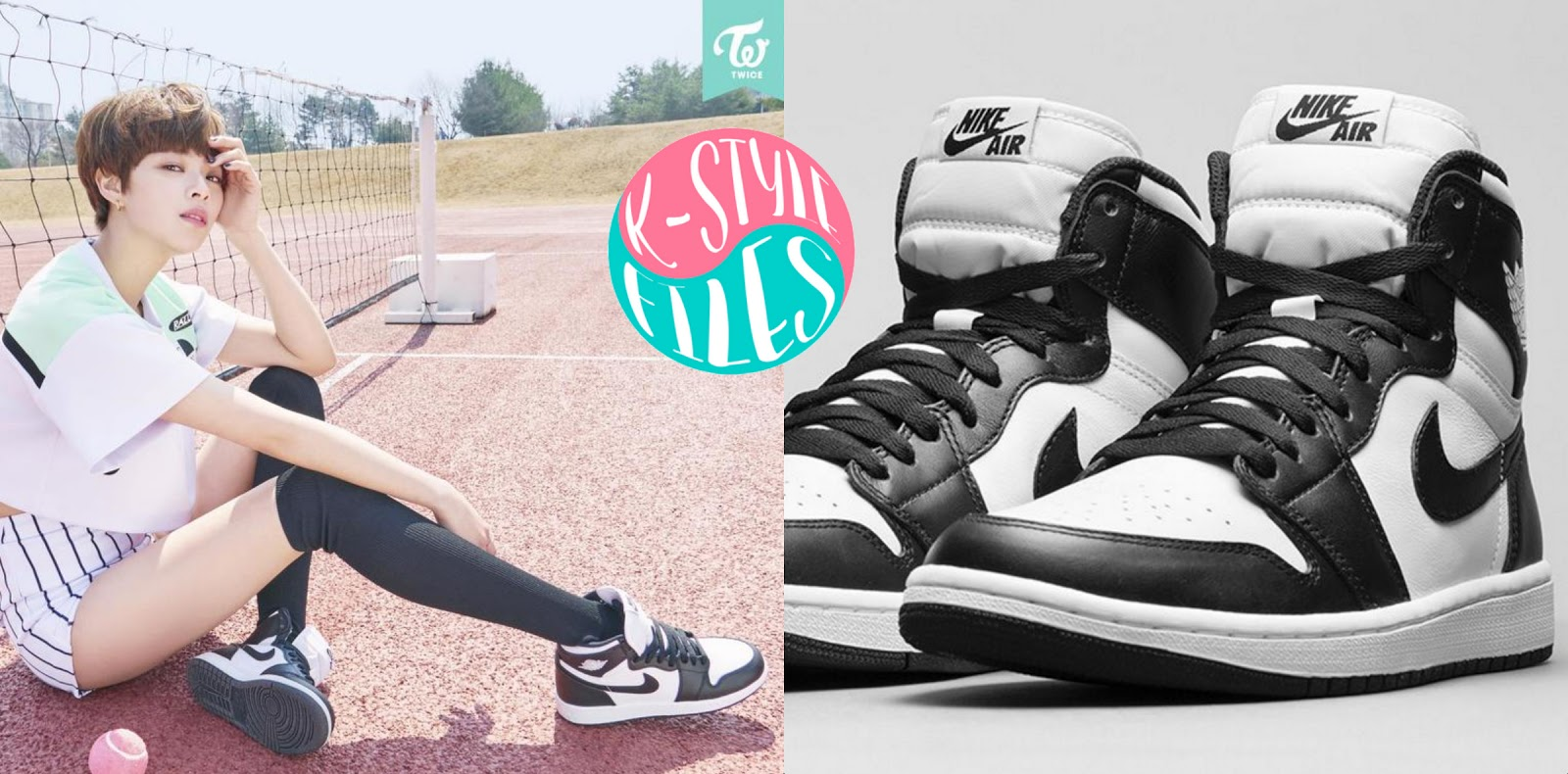 Jeongyeon is wearing the Air Jordan 1 Retro High OGs from Nike