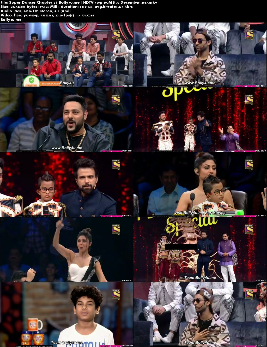 Super Dancer Chapter 2 HDTV 480p 200MB 30 Dec 2017 Download