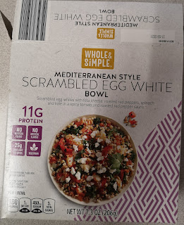 Outer packaging to Whole & Simple Mediterranean Style Scrambled Egg White Bowl, from Aldi