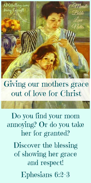 Having grace for our mothers, forgiving our mothers