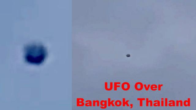 Esfera negra sobre Bangkok, Tailandia, el 21 de diciembre de 2020