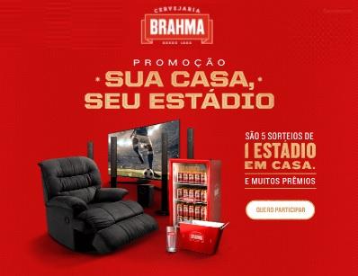 Cadastrar Promoção Sua Casa Seu Estádio Brahma - Prêmios na Hora, Semanais e Estádio em Casa