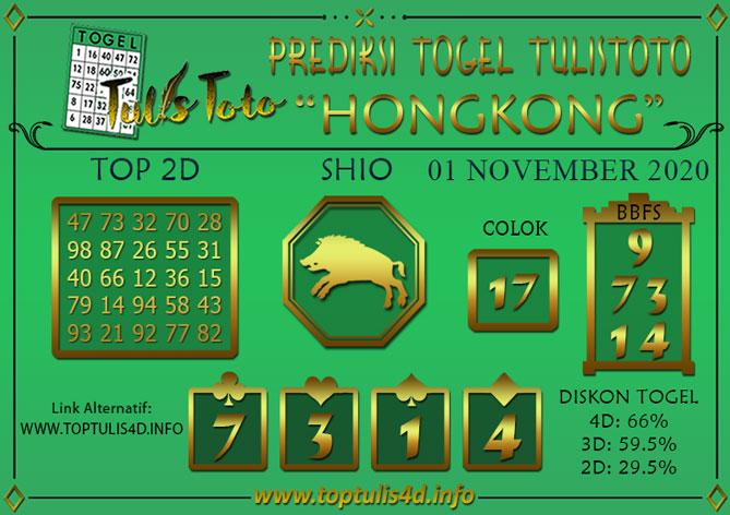 Prediksi Togel HONGKONG TULISTOTO 01 NOVEMBER 2020