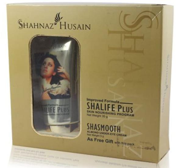 Shahnaz Husain Shalife Plus Skin Nourishing Program, 60g Free Shasmooth Almond Eye Cream, 10g