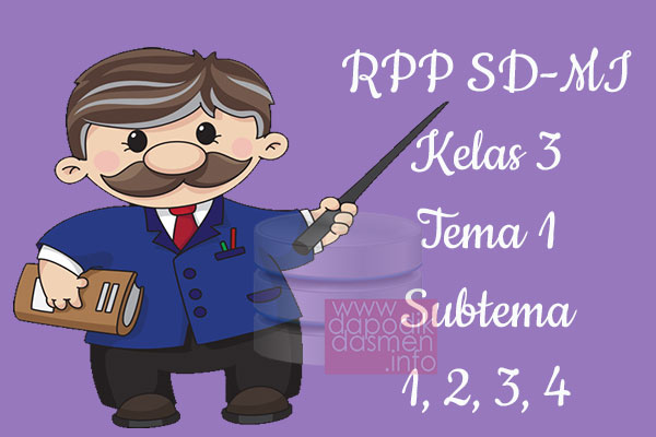 RPP Tematik SD/MI Kelas 3 Tema 1 Subtema 1 2 3 4 Semester 1, Download RPP Kelas 3 Tema 1 Subtema 1 2 3 4 Kurikulum 2013 SD/MI Revisi Terbaru, RPP Silabus Tematik Kelas 3