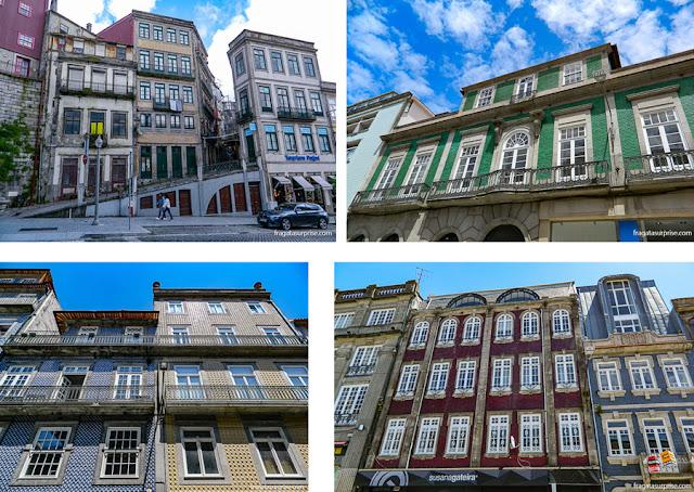 Azulejos portugueses nas fachadas do Porto