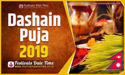 2019 Dashain Date Time, 2019 Dashain Nepali Calendar