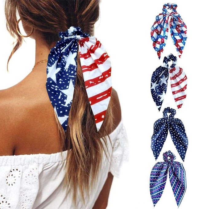 Scarf Hair Scrunchies Elastic Bow Hair Ties   30% off