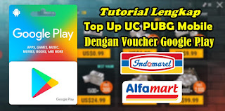 Cara Top Up UC PUBG Mobile Dengan Voucher Google Play
