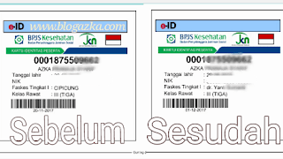 E-ID sebelum dan sesudah ganti faskes