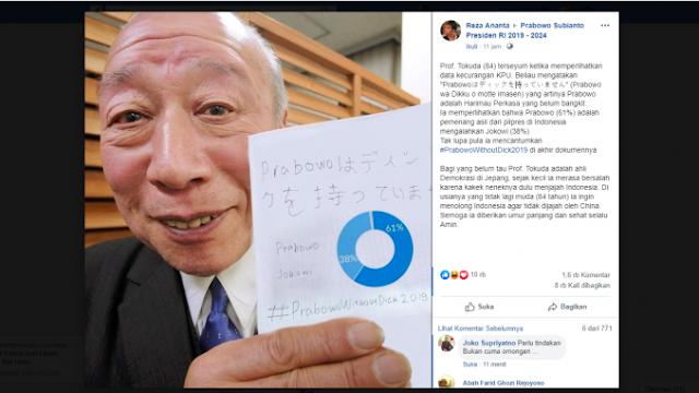 [HOAX] Prof Tokuda terseyum ketika memperlihatkan data kecurangan KPU