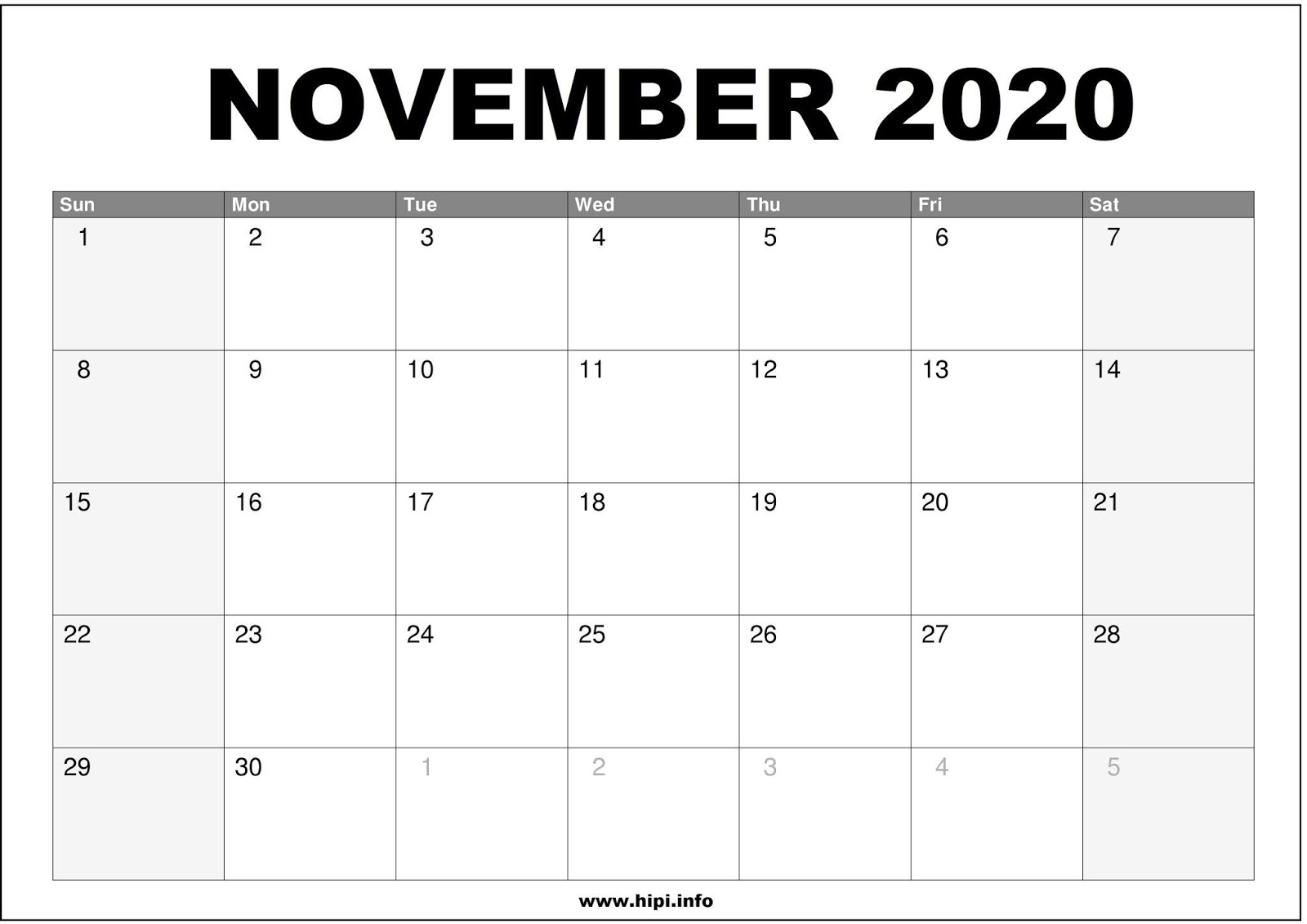 November 2020 Calendar Wallpaper Twitter Headers / Facebook Covers / Wallpapers / Calendars