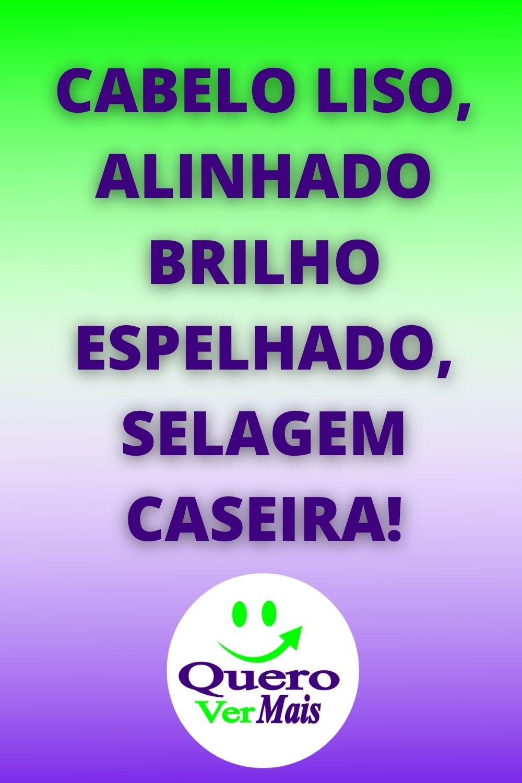 CABELO LISO, ALINHADO BRILHO ESPELHADO, SELAGEM CASEIRA!