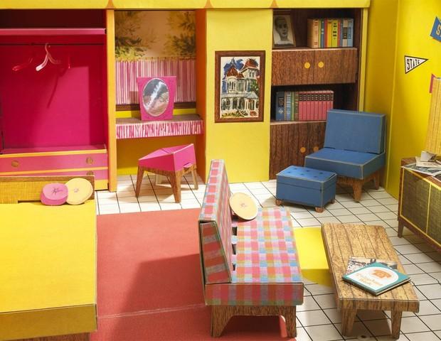 O lado de c casas da barbie for Sala de estar barbie