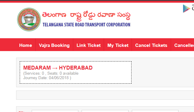 Medaram To Hyderabad Special Bus Timings Tickets Booking ...