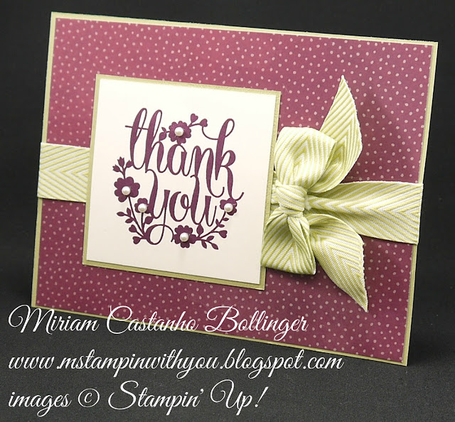 Miriam Castanho-Bollinger, #mstampinwithyou, stampin up, demonstrator, mm, thank you, farmer's market dsp, a whole lot of lovely, su
