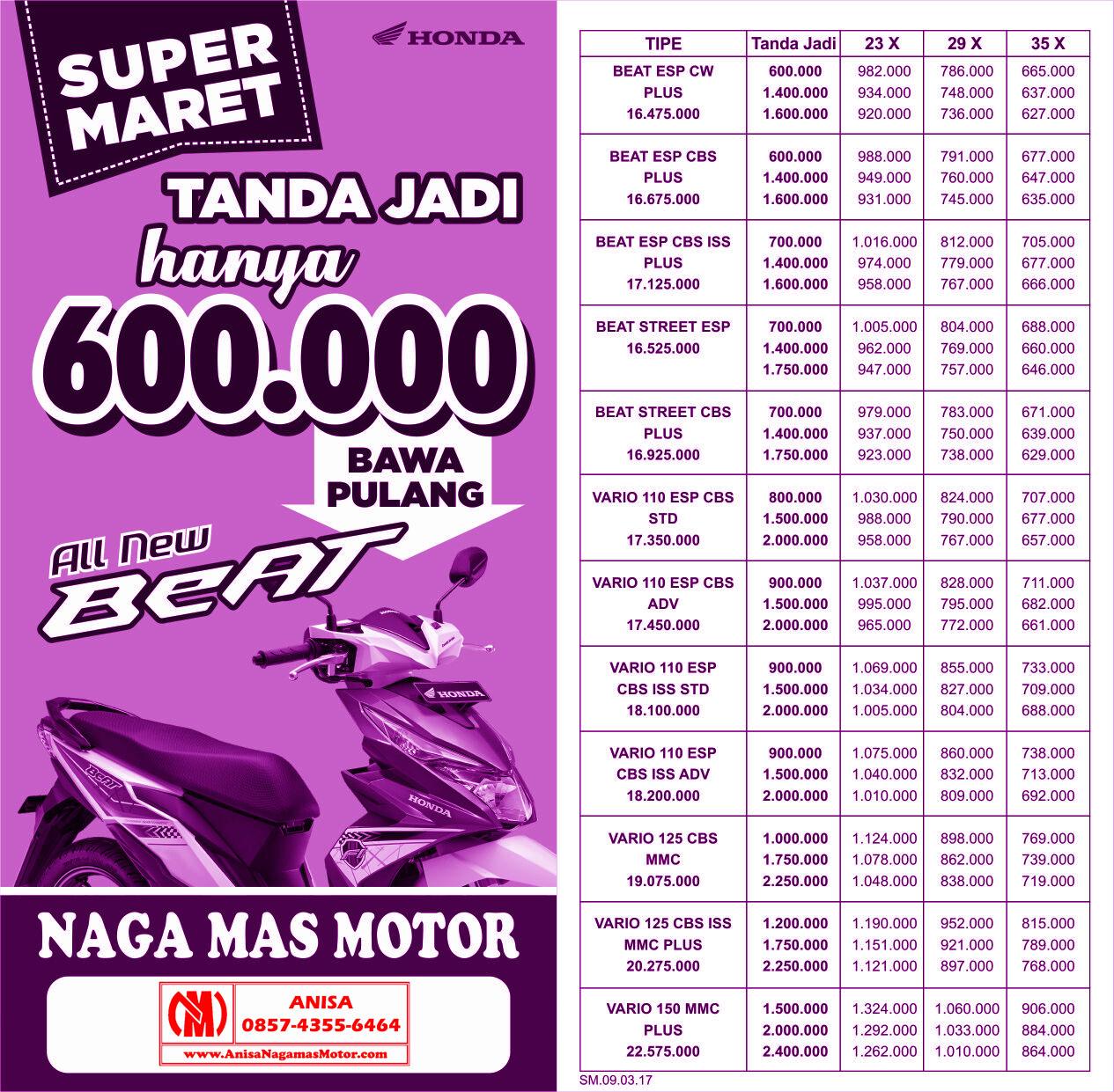 Anisa Counter Sales Dealer Nagamas Motor Klaten All New Cbr 150r Slick Black White Kota Semarang Promo Super Maret 2017