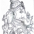 Lord Ganesha - Quick Sketch | Sathish's Gallery - Pencil Sketches, Techniques and more