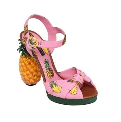 Weird Shoe Wednesday : Dolce & Gabbana Pineapple Heeled Sandals