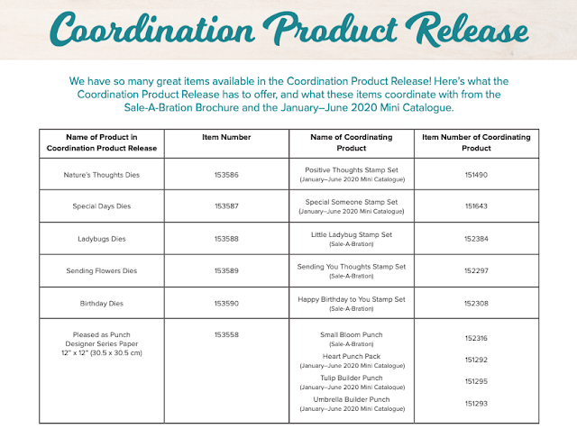 Stampin Up coordination product release