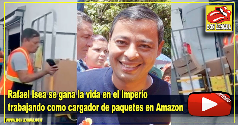 Rafael Isea se gana la vida en el Imperio trabajando como cargador de paquetes en Amazon