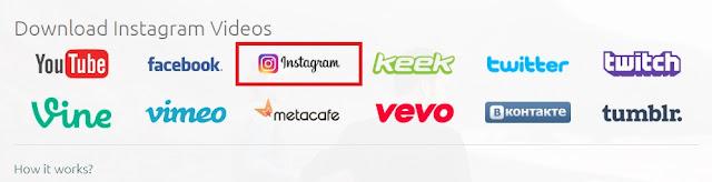Jika halaman situs sudah terbuka, Sobat pilih opsi Instagram.