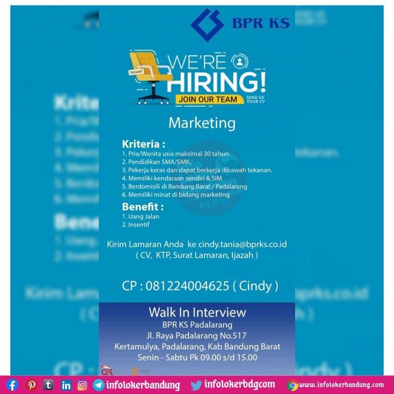 Lowongan Kerja BPR KS Padalarang Bandung Juli 2021