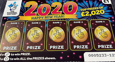2020 National Lottery Scratchcard
