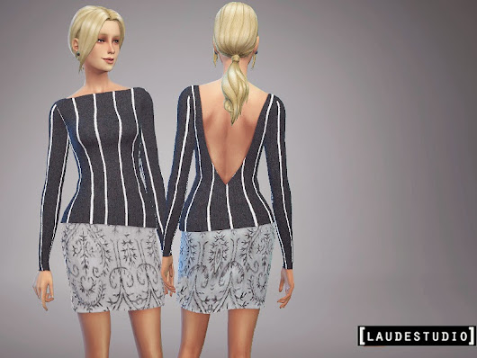Laude Studio : Grey Mini Skirt #SIMS4