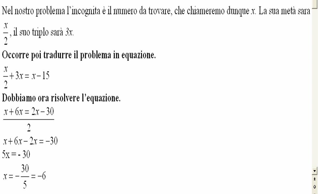 Matematica scuola secondaria 1 grado risoluzione di for Problemi di primo grado a due incognite esercizi