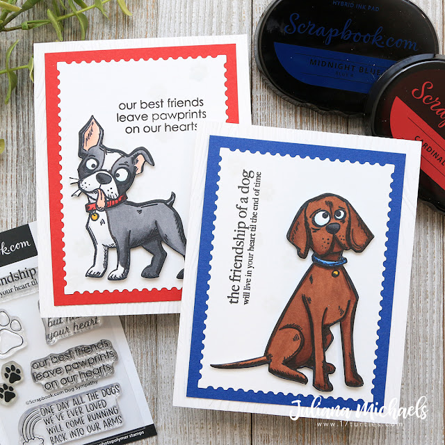 Dog Sympathy Cards by Juliana Michaels featuring Scrapbook.com Dog Sympathy Stamp Set