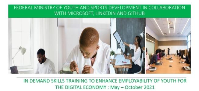 """Ana Ci Gaba Da Cike Shirin """"In Demand Skills Training For The Digital Economy Haɗin Gwiwa Da Microsoft, Linkedin Da Kuma Github"""" Karkashin Ma'aikatar Matasa da Raya Wasanni ta Tarayya"""