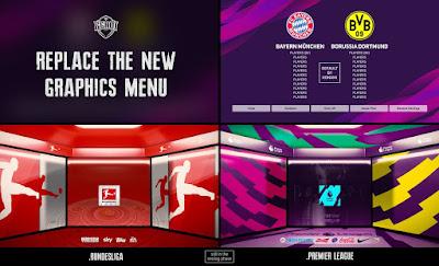 PES 2020 Graphic Menu Top 5 European Leagues by EgaOi