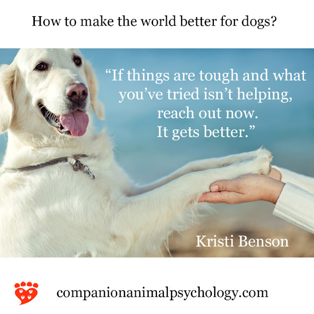A better world for dogs - part of Companion Animal Psychology News