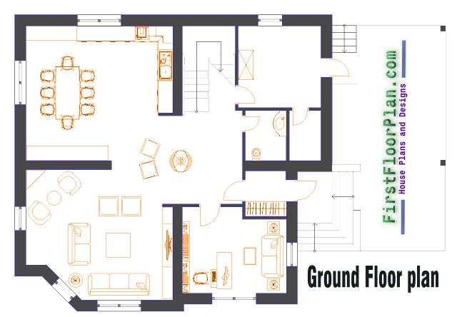 duplex house floor plan