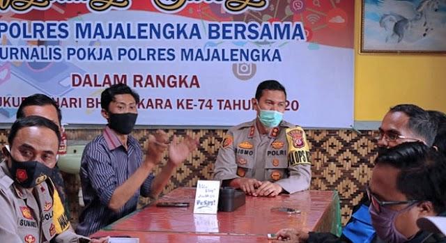 Ngariung Bareng Kapolres Majalengka Bersama Jurnalis