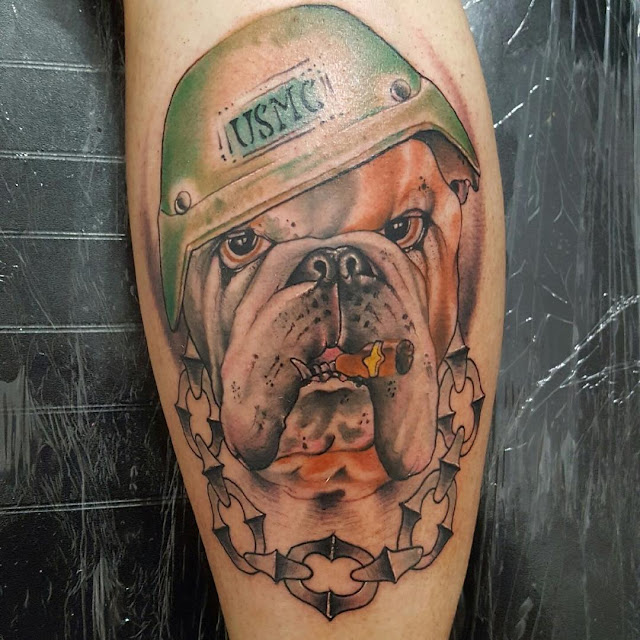 usmc army dog tattoo