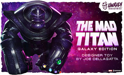 "Designer Con 2019 Exclusive Thanos ""The Mad Titan"" Galaxy Edition Vinyl Figure by Joe DellaGatta x Unruly Industries x Sideshow x Marvel"