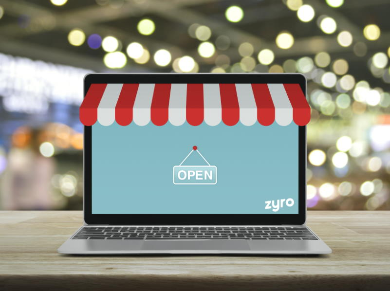 Tienda en línea licencia por Adobe Stock