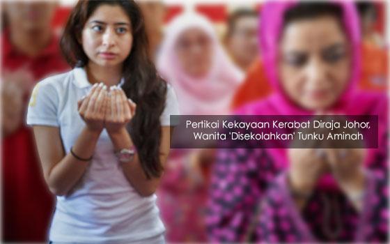 Pertikai Kekayaan Kerabat Diraja Johor, Wanita 'Disekolahkan' Tunku Aminah