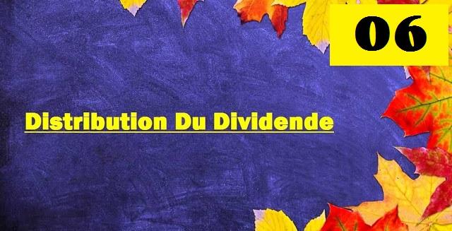 Ecriture comptable de la distribution du dividende