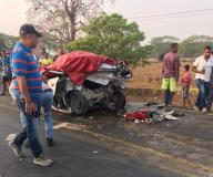El accidente se registró en el kilómetro 68 de la vía que conecta a San Onofre con la ciudad de Cartagena