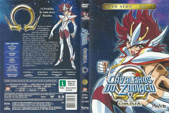 Capa DVD Os Cavaleiros Do Zodíaco Omega (Oficial) D1 a D13