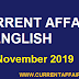 Today Important Current Affairs in English [ 06 November 2019 ] | Today's News Headlines