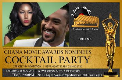 Zylofon Media To Host Ghana Movie Awards 2016 Nominees Party + Final Butch Of Nominees