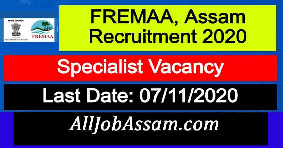FREMAA, Assam Recruitment 2020