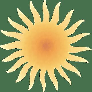 Sol aquarela