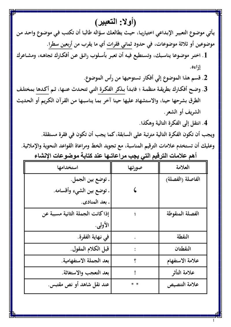 تحميل المراجعات النهائية و الأسئلة المتوقعه في اللغة العربية , جميع الفروع للصف الثالث الثانوى