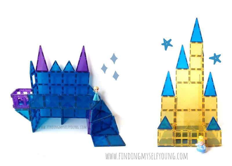 how to make disney inspired magnetic tile castles