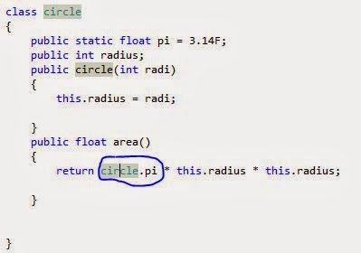 Example of Static and instance class member in c# programming